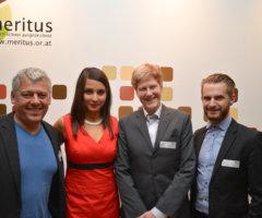 Hans Arsenovic (Grünen Wirtschaft Wien), Moderatorin Meri Disoski (Verein Wirtschaft Für Integration),  Jennifer Kickert & Peter Kraus (Grüne Andersrum)