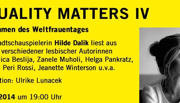 Equality Matters IV Ausschnitt