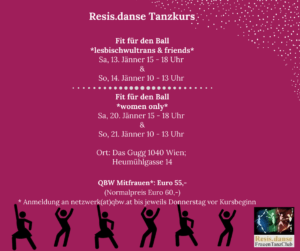 Tanzkurs Resis.danse: Fit für den Ball *women only* @ Das Gugg