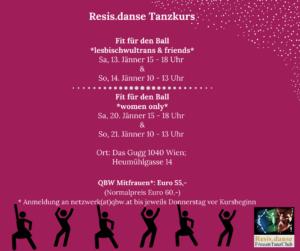 Tanzkurs Resis.danse: Fit für den Ball *women only* @ Das Gugg